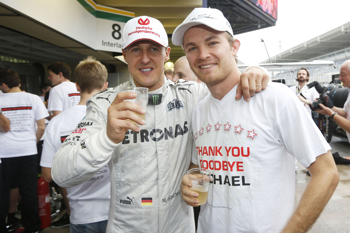 F1 ニコ・ロズベルグ ミハエル・シューマッハ