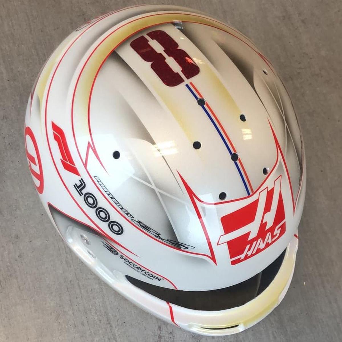 ロマン・グロージャン 2019年 F1中国GP ヘルメット②