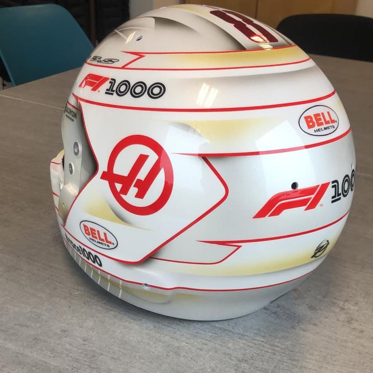 ロマン・グロージャン 2019年 F1中国GP ヘルメット③