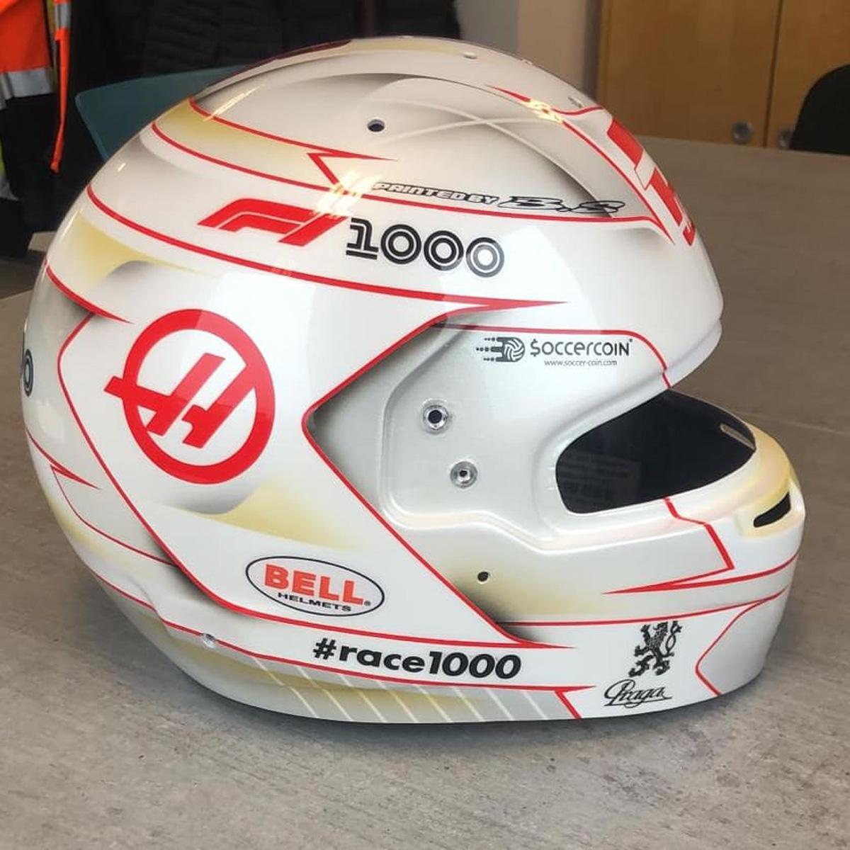 ロマン・グロージャン 2019年 F1中国GP ヘルメット④