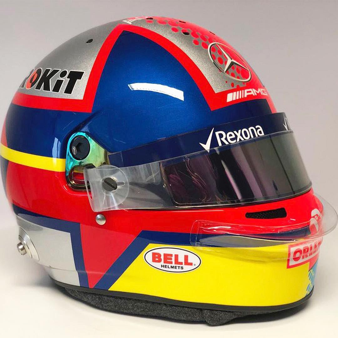 ジョージ・ラッセル ヘルメット 2019年 F1中国GP