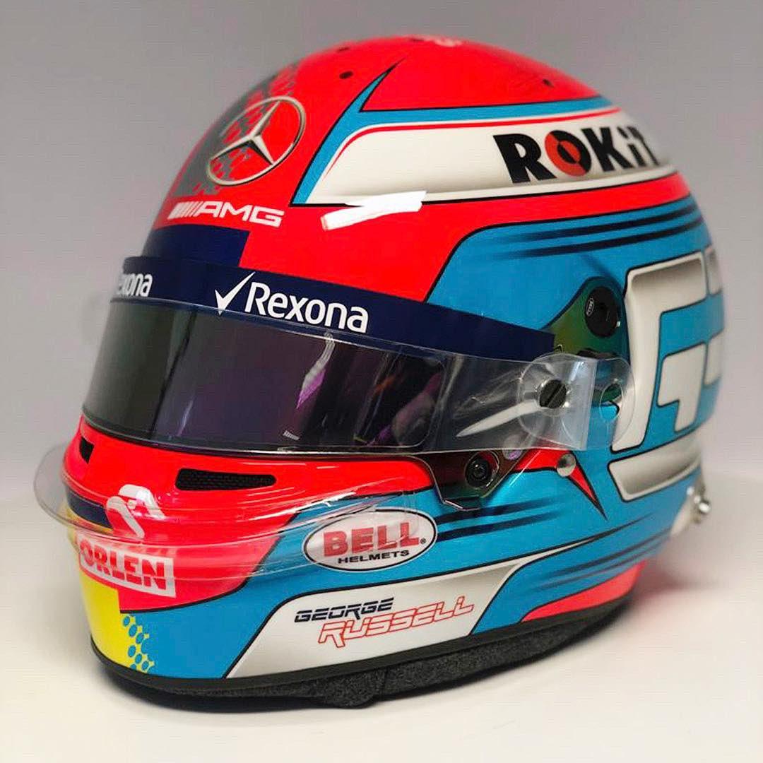 ジョージ・ラッセル ヘルメット 2019年 F1中国GP ②
