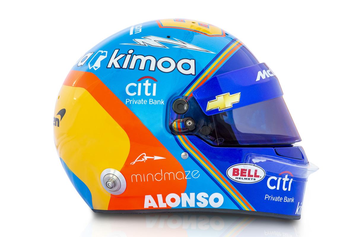 フェルナンド・アロンソ インディ500 ヘルメット (2019年)