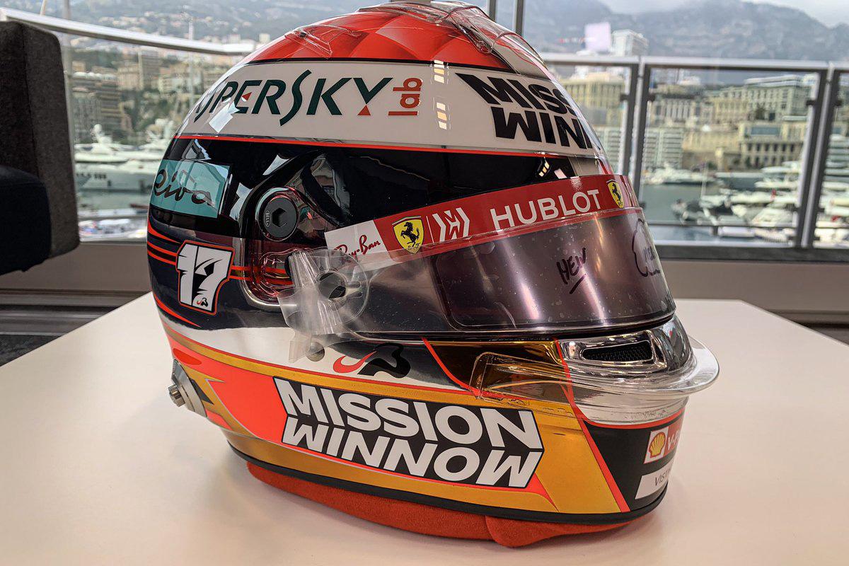シャルル・ルクレール 2019年 F1モナコGP ヘルメット②