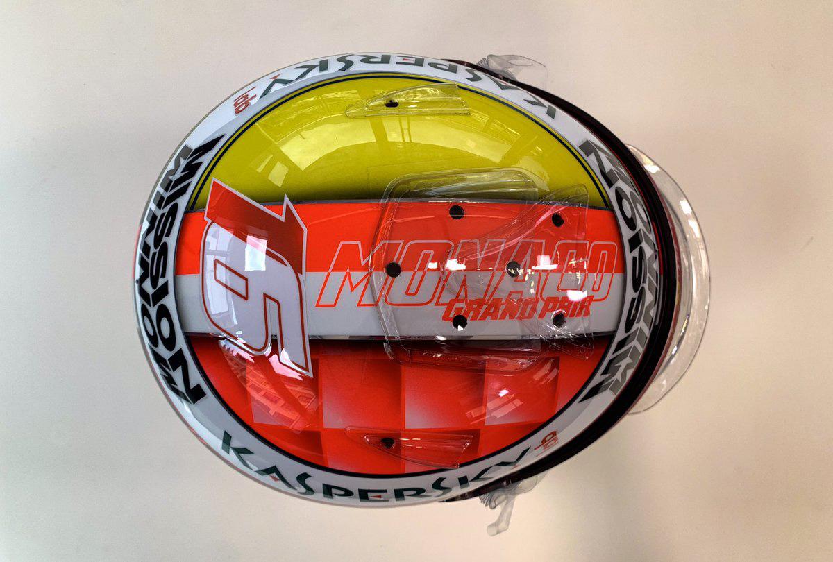シャルル・ルクレール 2019年 F1モナコGP ヘルメット③