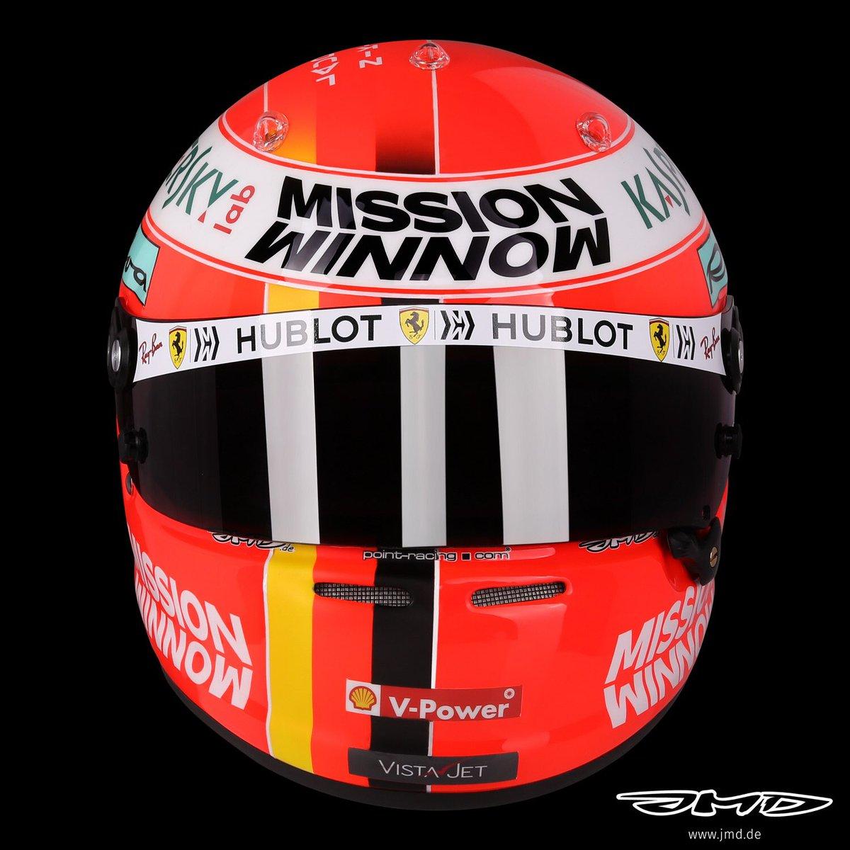 セバスチャン・ベッテル 2019年 F1モナコGP ヘルメット