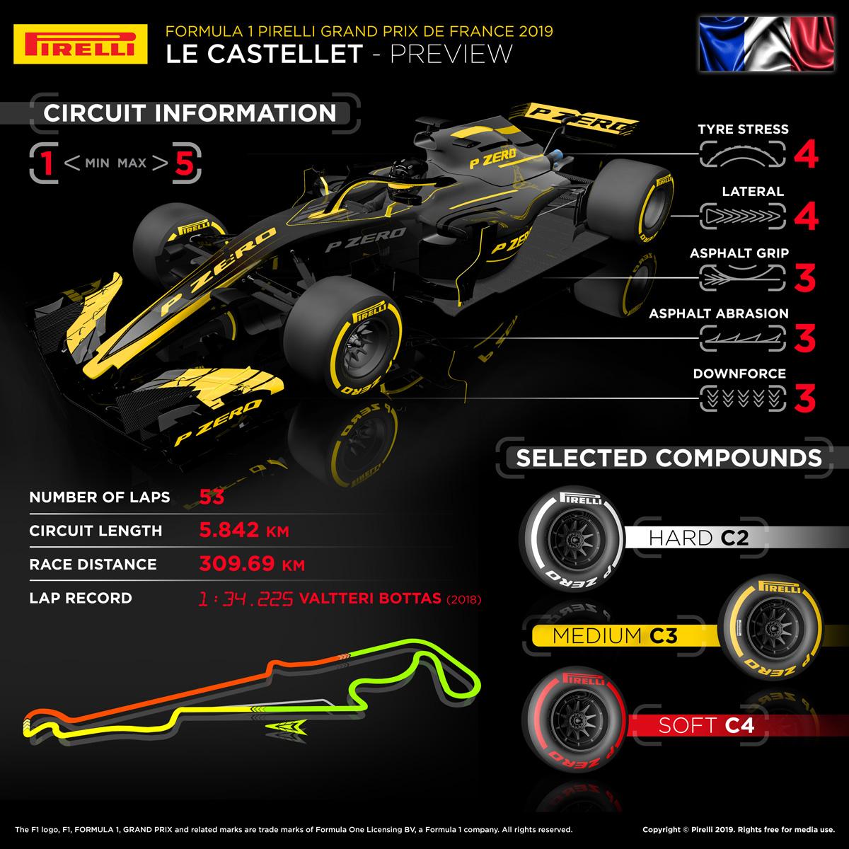 F1 フランスグランプリ ピレリ
