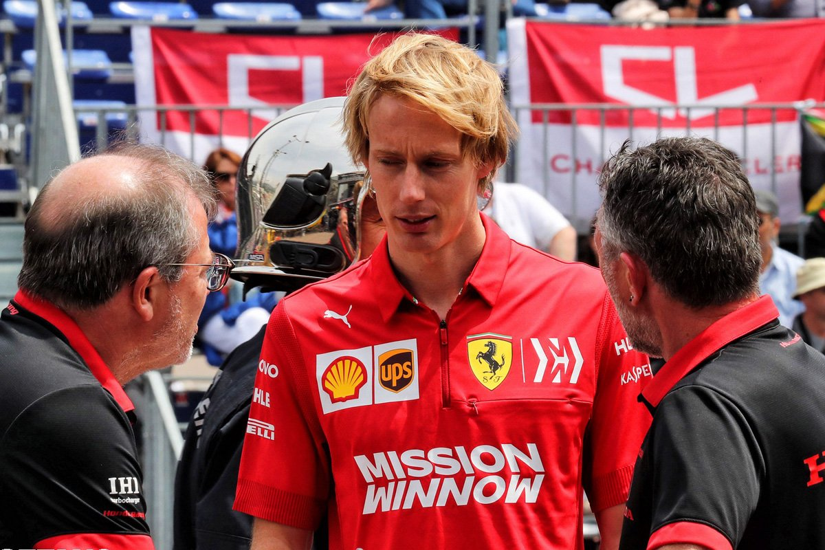 F1 ブレンドン・ハートレー フェラーリ