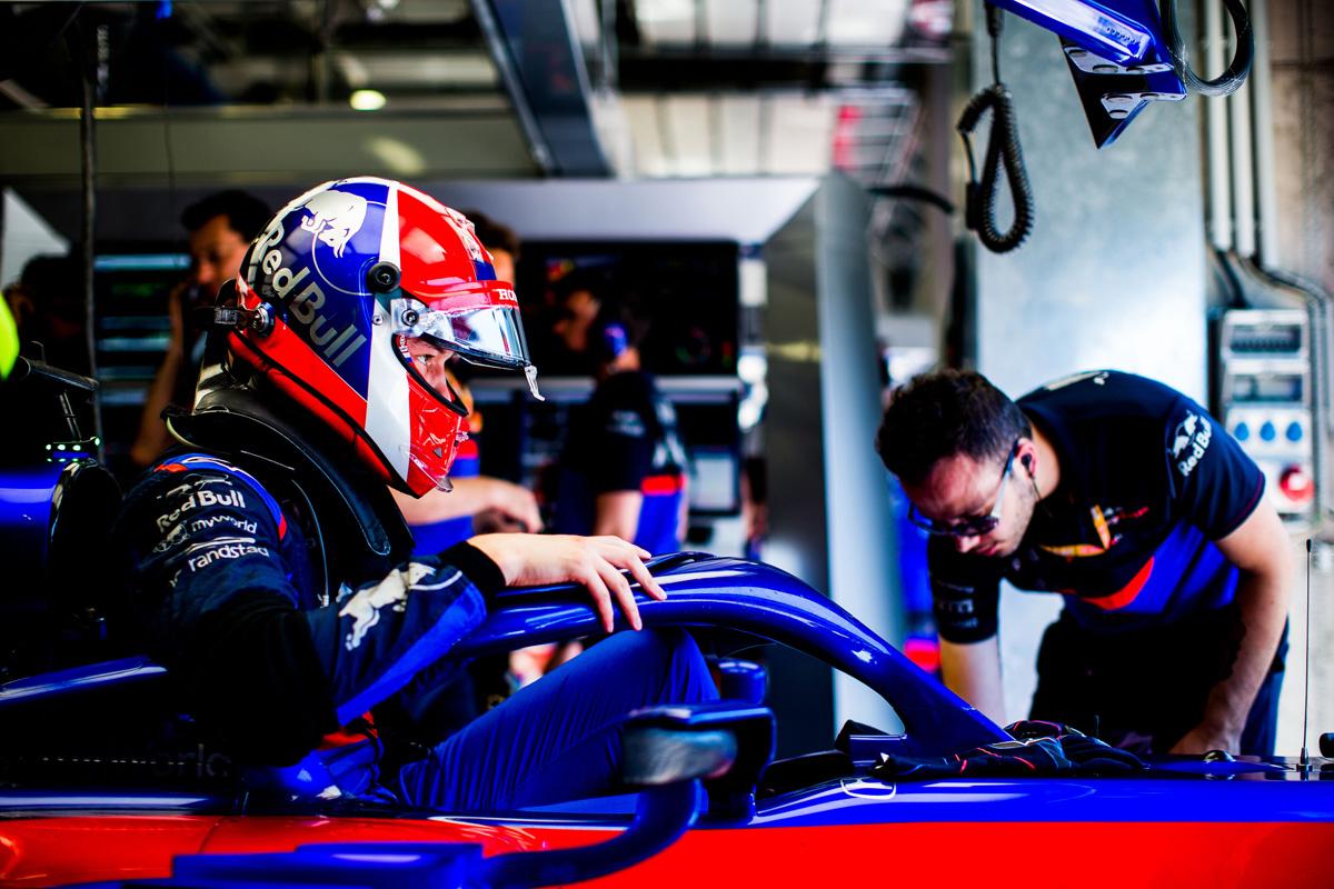 F1 ダニール・クビアト ホンダF1