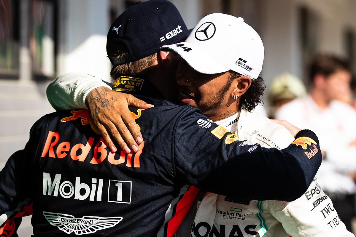 F1 ルイス・ハミルトン マックス・フェルスタッペン