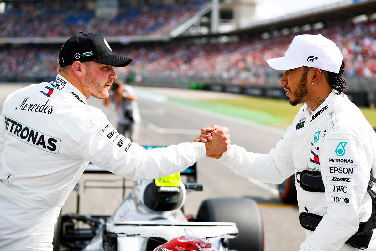 F1 ルイス・ハミルトン バルテリ・ボッタス