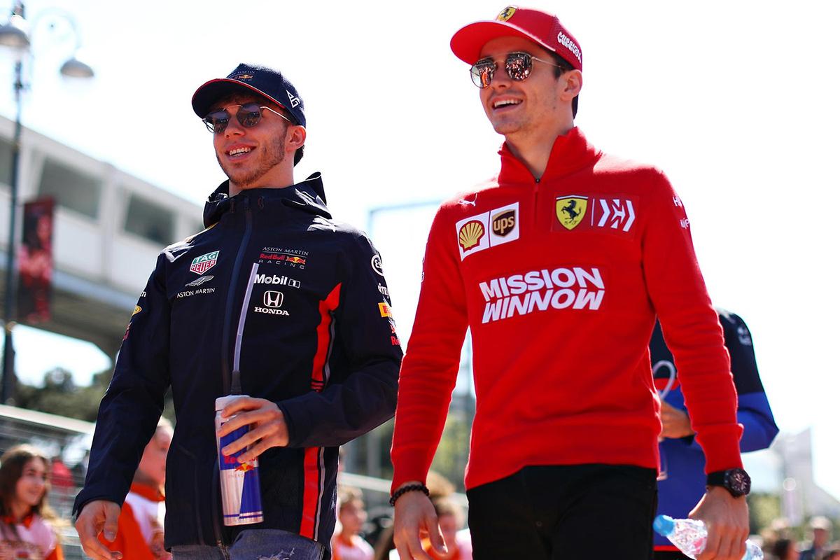 F1 シャルル・ルクレール ピエール・ガスリー