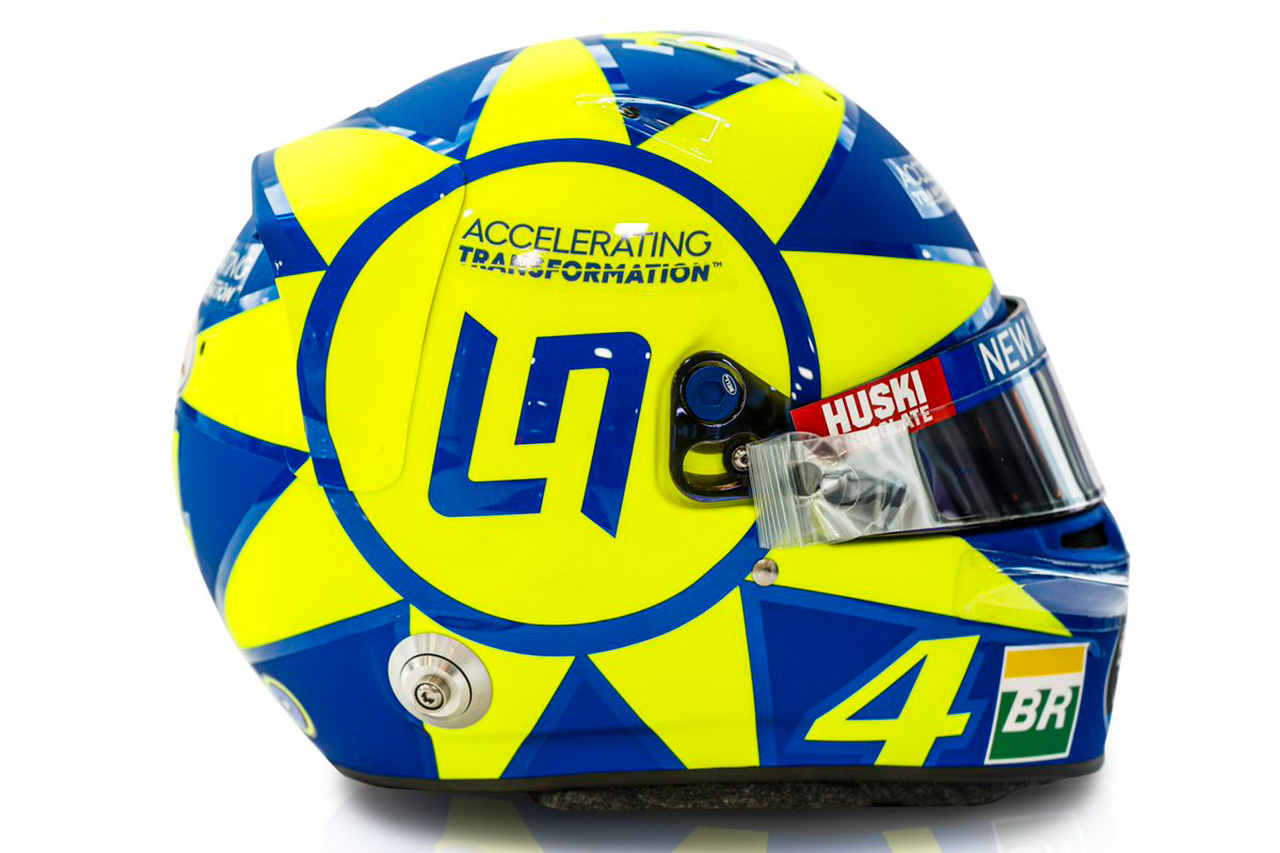"""ランド・ノリス、F1イタリアGPで""""バレンティー・ロッシ仕様""""のヘルメット"""