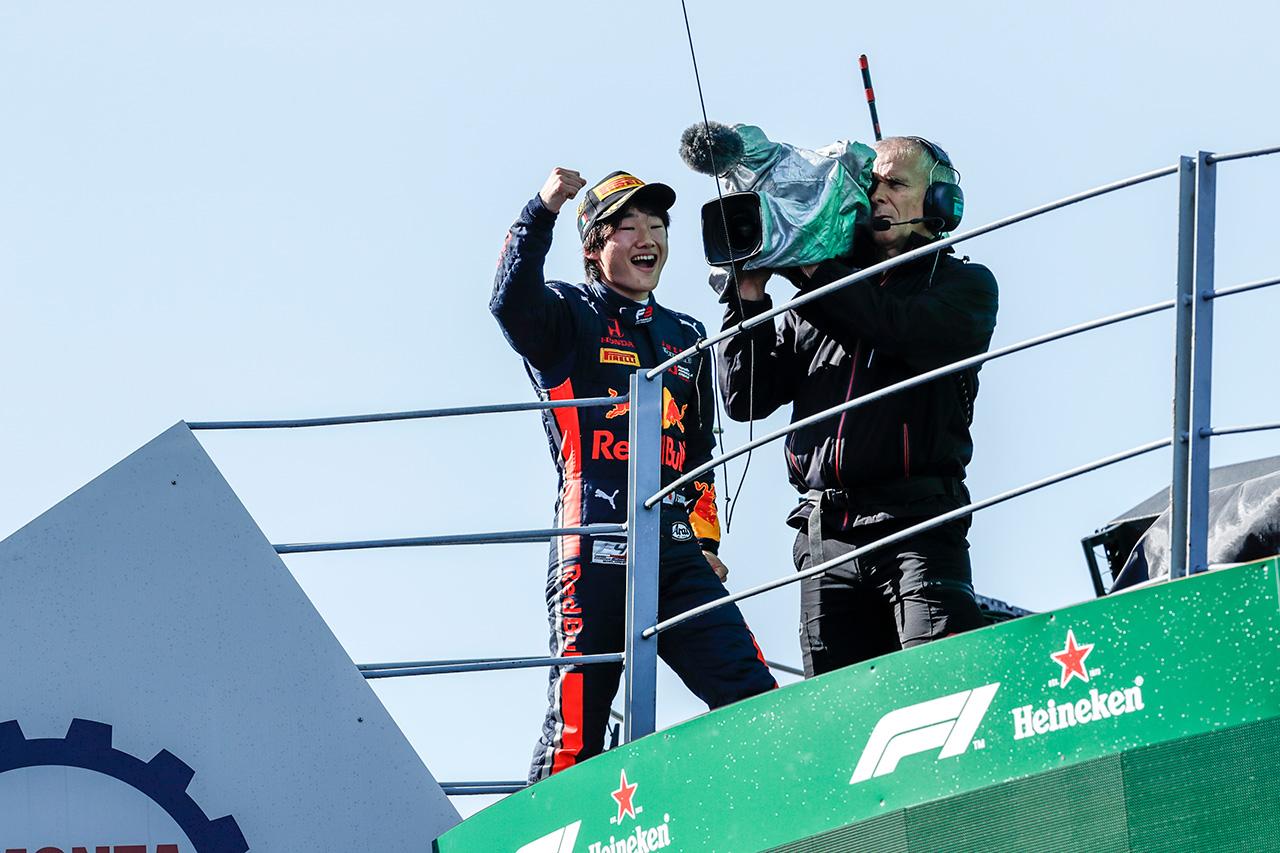 角田裕毅、FIA-F3で初優勝 「初優勝は素直にうれしい」