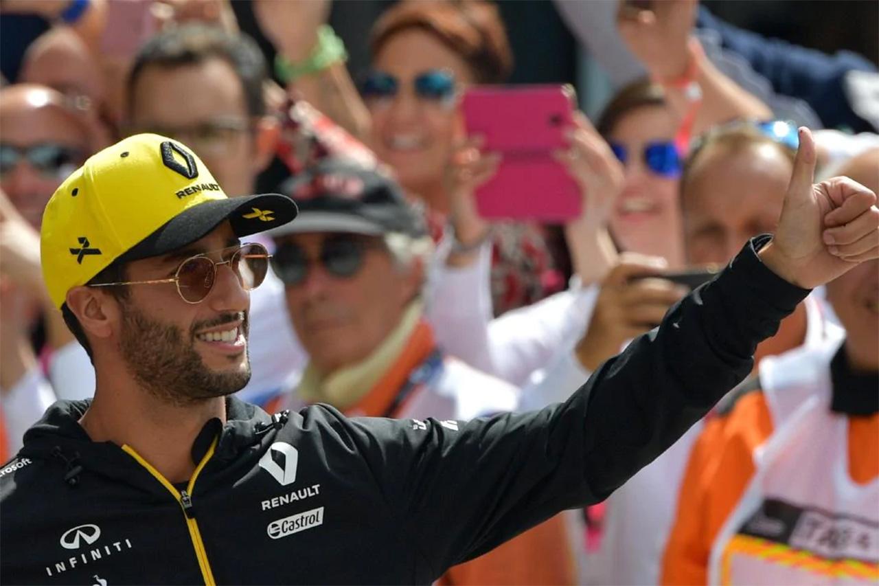 F1 ダニエル・リカルド、モンツァでの好成績は「ルノーのPUの進化の表れ」