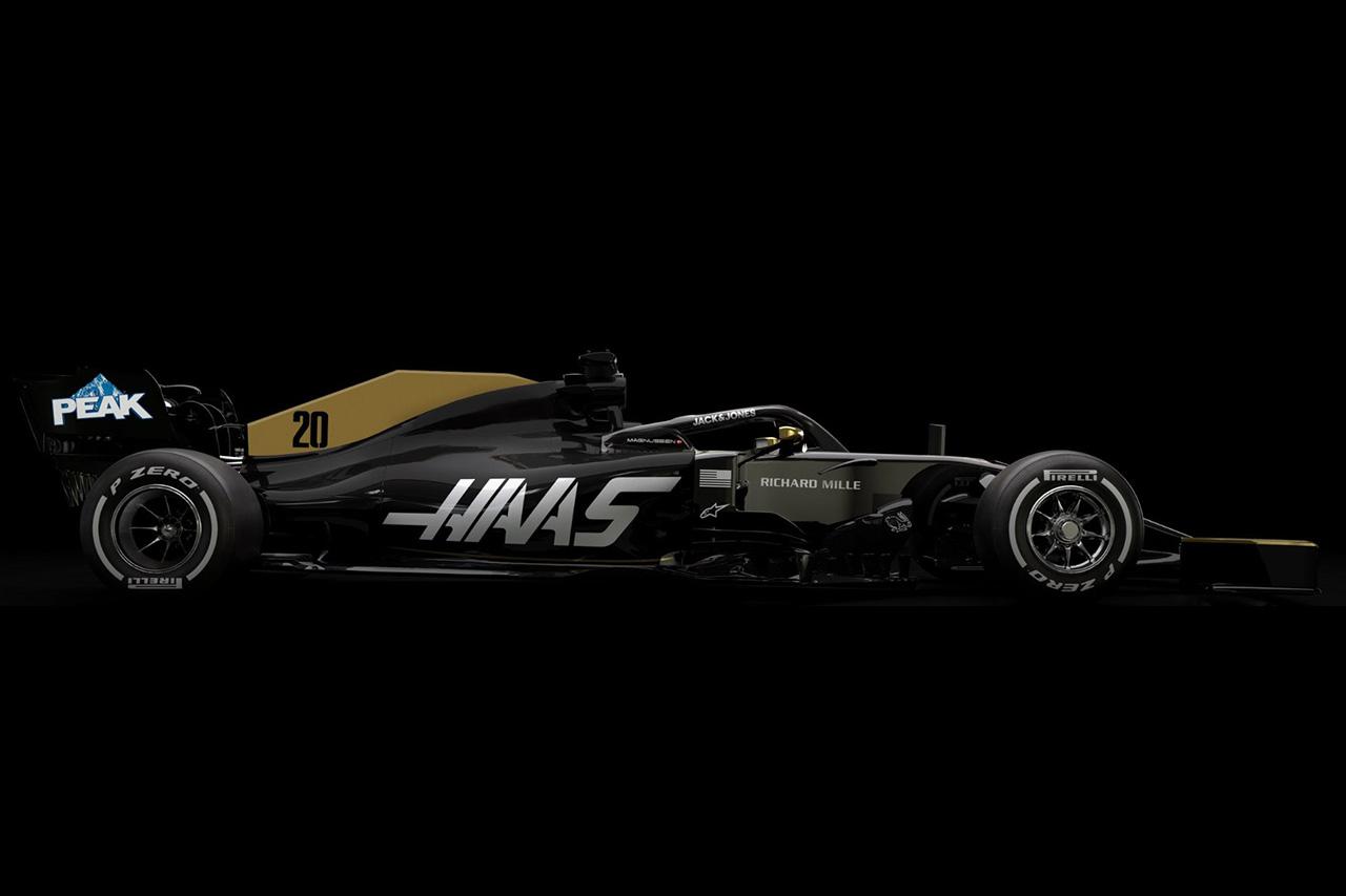 ハースF1チーム、ブラック&ゴールドのカラーリングを継続へ