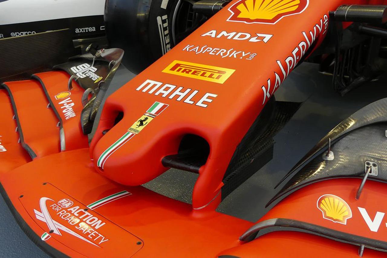 フェラーリ、F1シンガポールGPに新型フロントウイングを投入