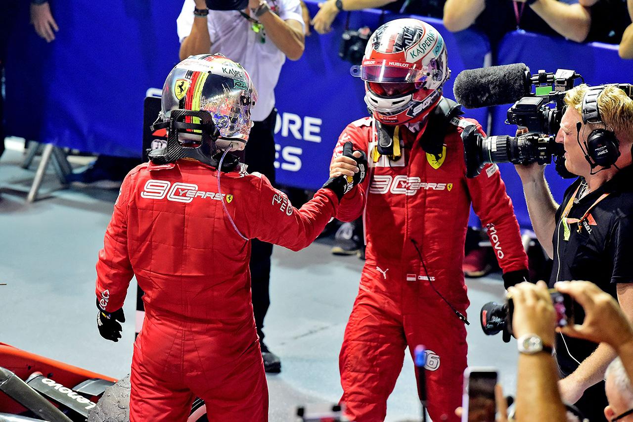 フェラーリ 「ベッテルとルクレールの順位を入れ替えも検討した」 / F1シンガポールGP
