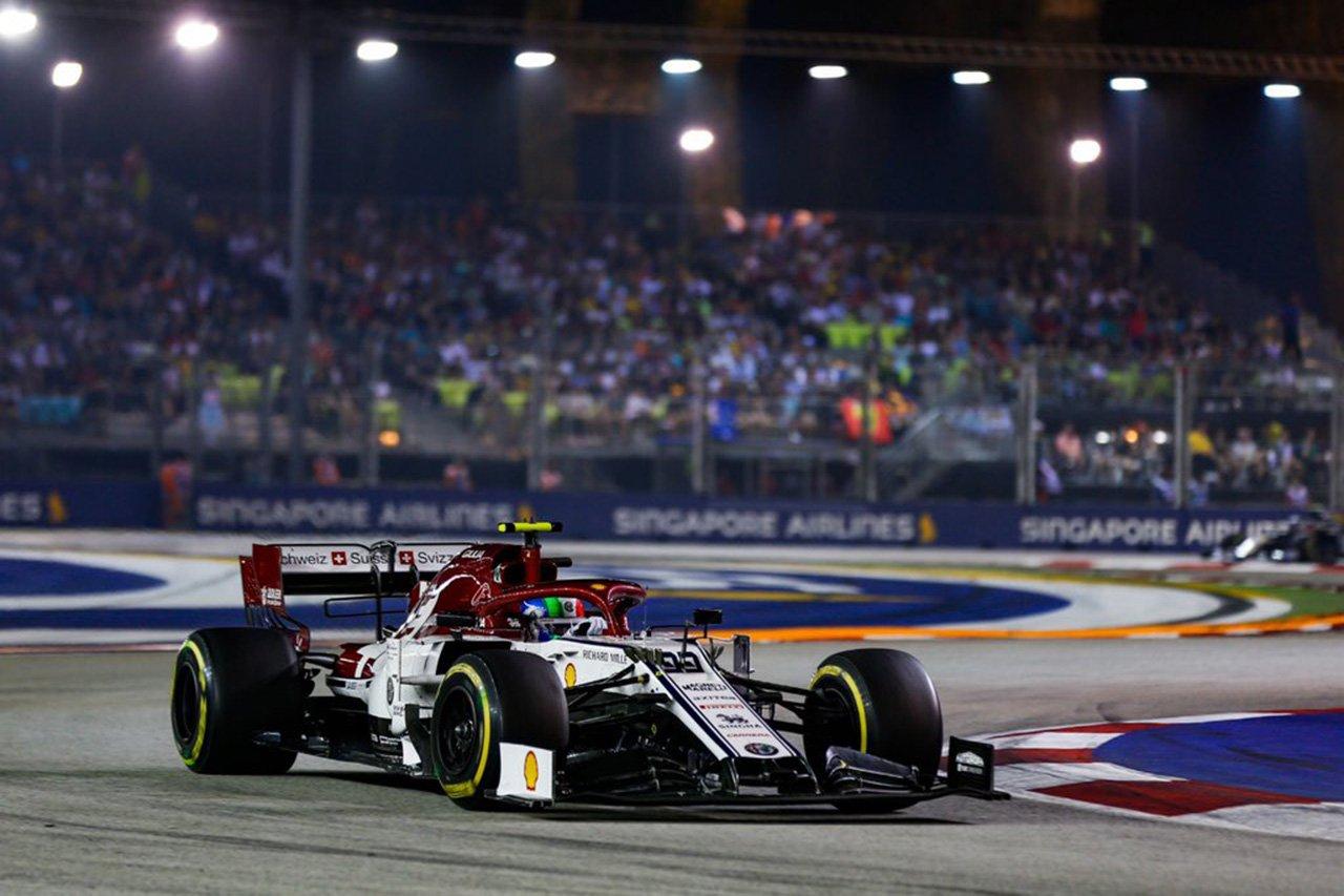 アルファロメオ、ジョビナッツィが3度目の入賞 / F1シンガポールGP