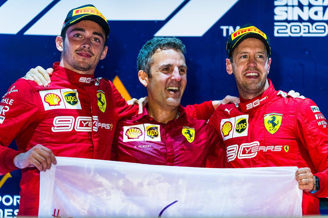 フェラーリ、1-2フィニッシュで3連勝 / F1シンガポールGP