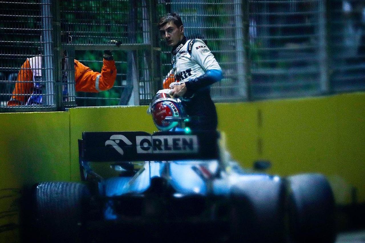 ジョージ・ラッセル、ロマン・グロージャンに激怒 「なに考えてんだか」 / F1シンガポールGP