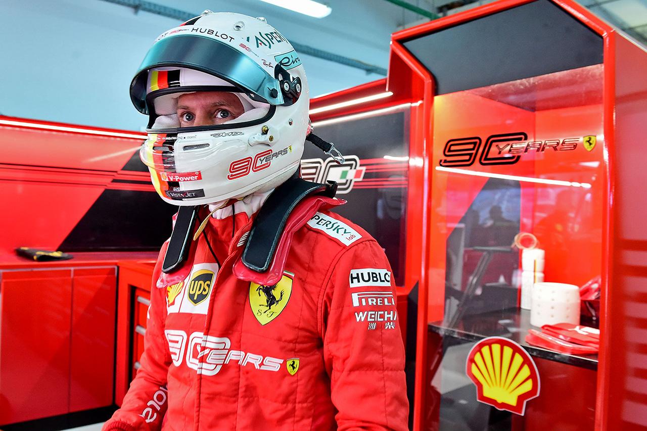 セバスチャン・ベッテル 「僕たちはスタート用に正しいタイヤ選択をした」 フェラーリ F1ロシアGP予選