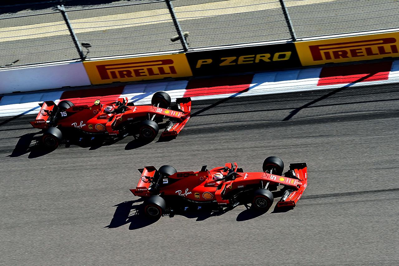 フェラーリ、戦略勝負も勝利は得られず / F1ロシアGP