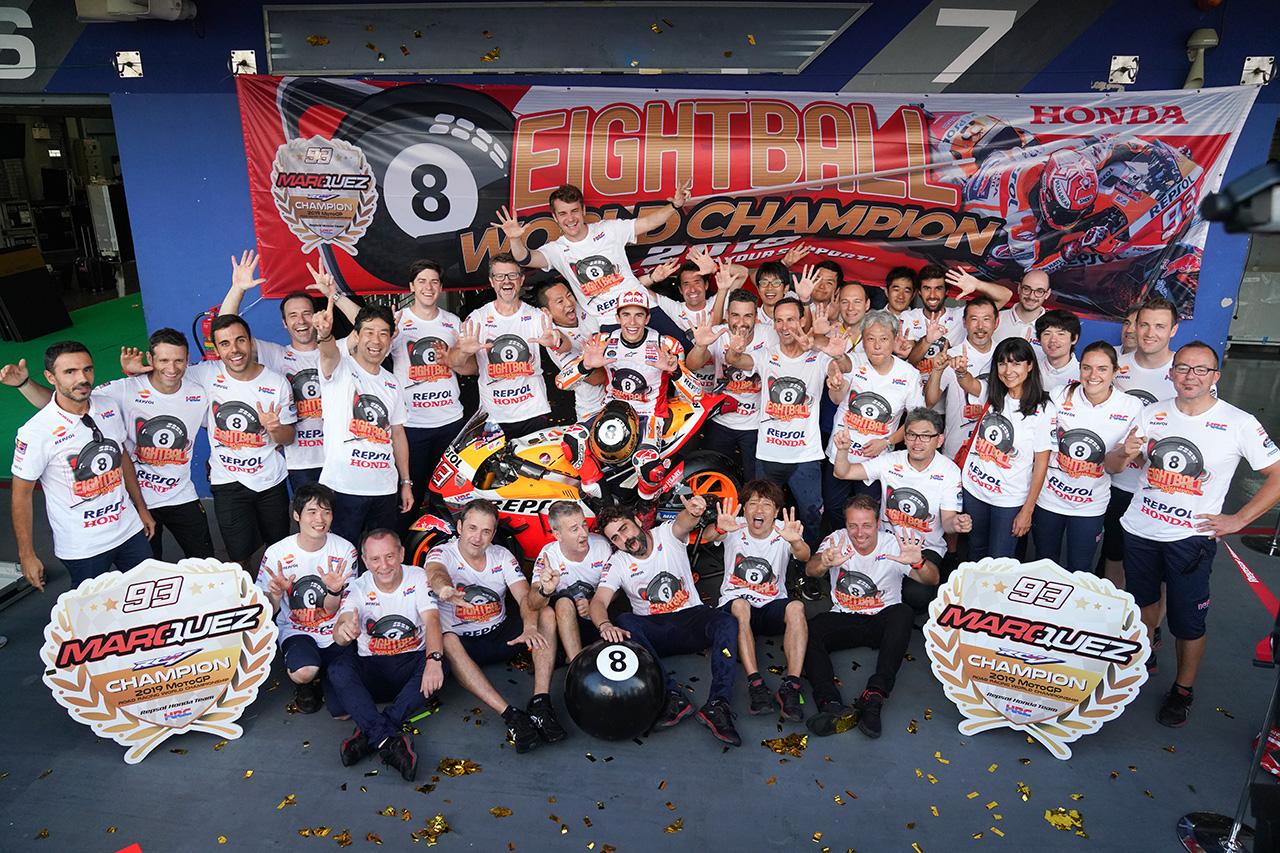 マルク・マルケス、MotoGPで4年連続6回目のチャンピオンを獲得