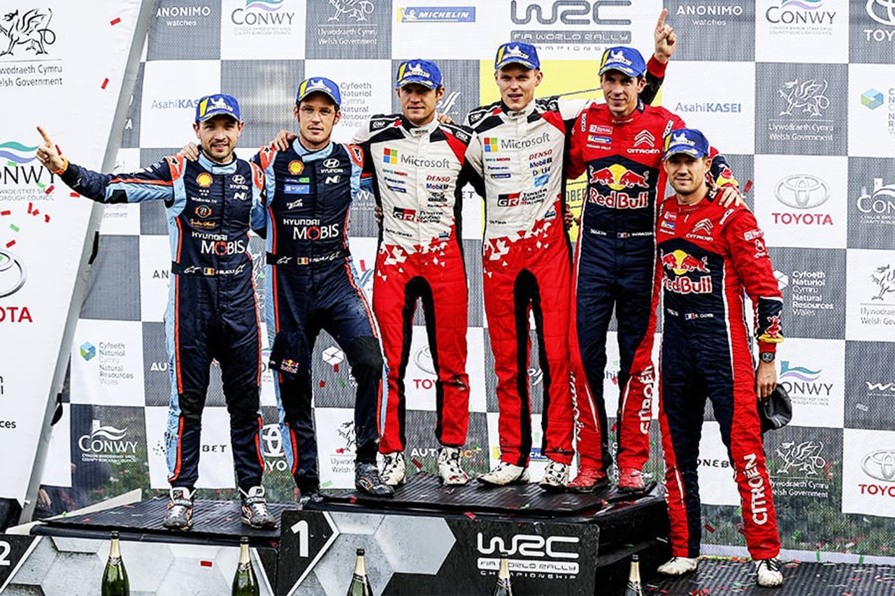 WRC 第12戦 ラリー・グレートブリテン:タナックが完全制覇で今季6勝目
