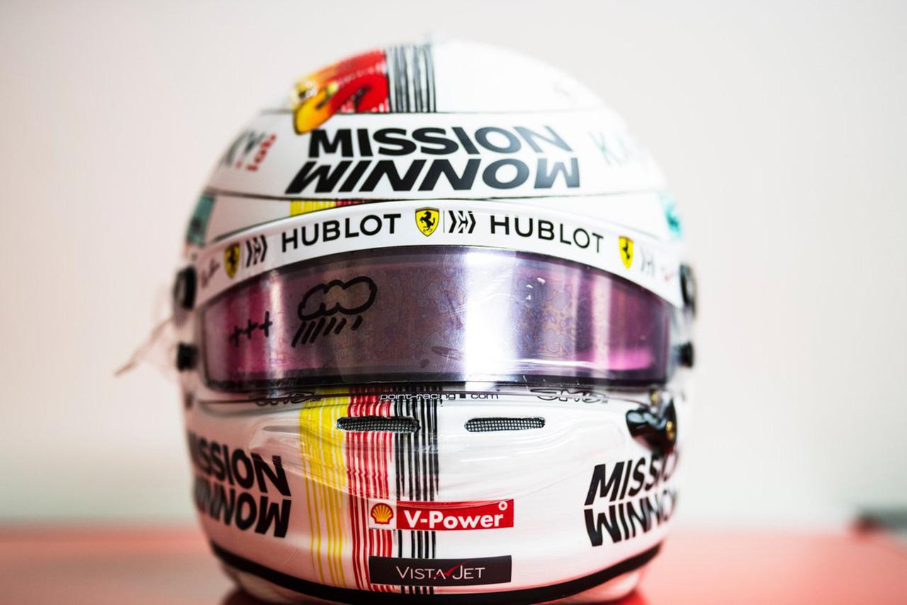 セバスチャン・ベッテル 2019年 F1日本GP ヘルメット