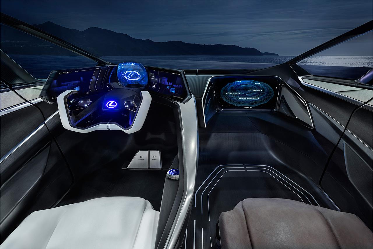 自動運転技術や新設計のコックピットなどを搭載した先進的なインテリア