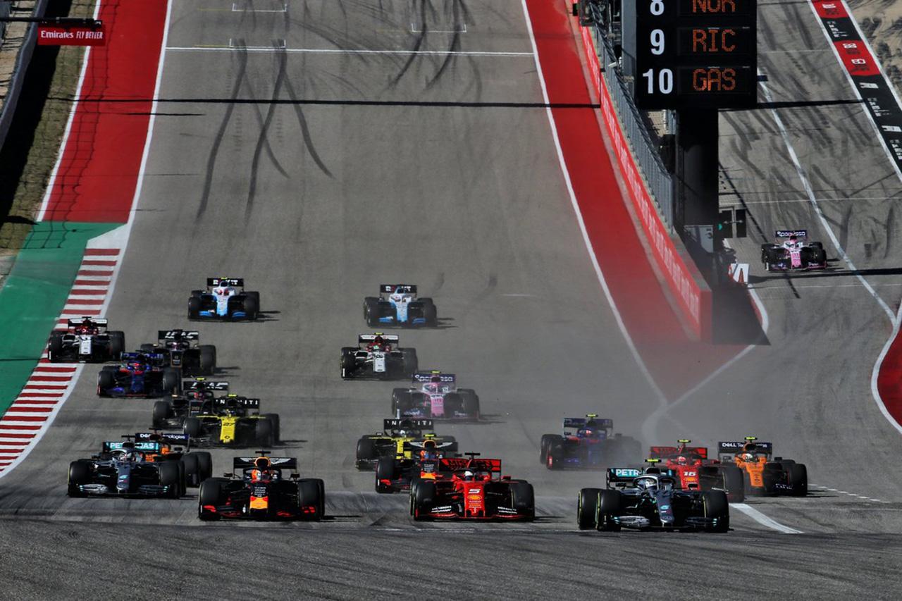 【速報】 F1アメリカGP 決勝 結果:ボッタス優勝、フェルスタッペン3位