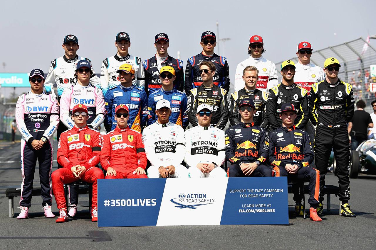 2020年 F1ドライバーラインナップ … 未発表は残り4シート