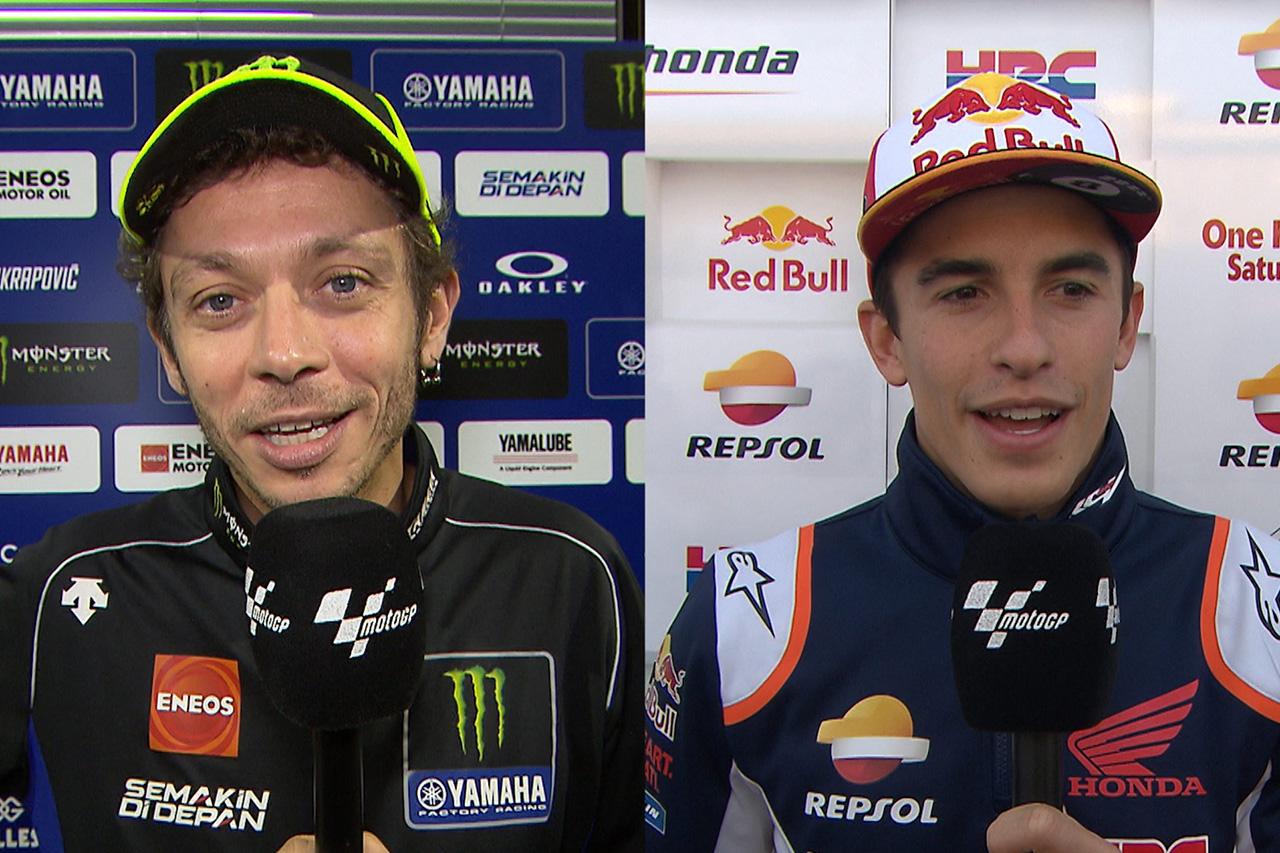 ルイス・ハミルトンの6度目のF1王座をMotoGPのロッシ&マルケスが祝福