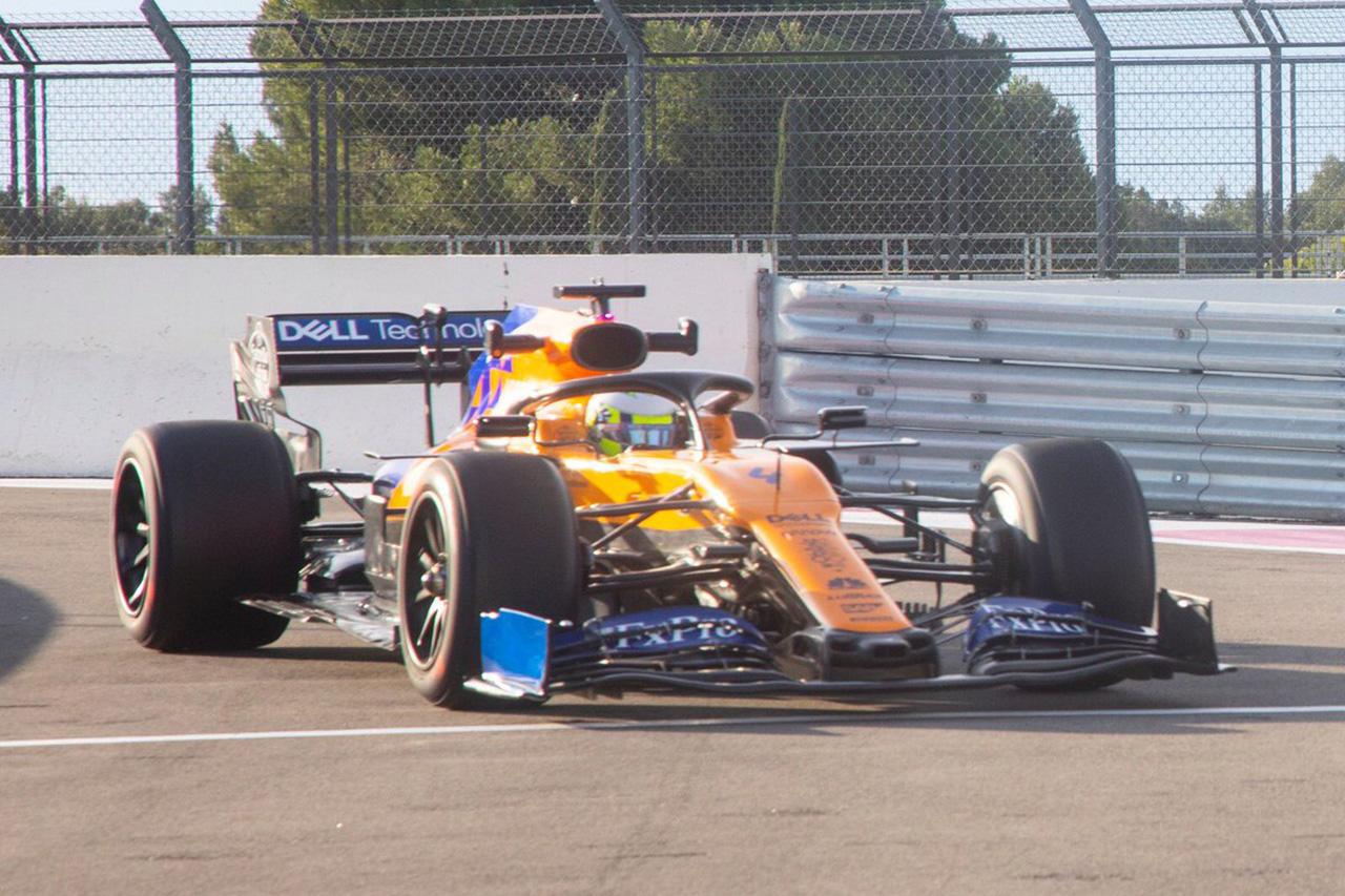 マクラーレン、18インチF1タイヤでの2日間のテストを完了