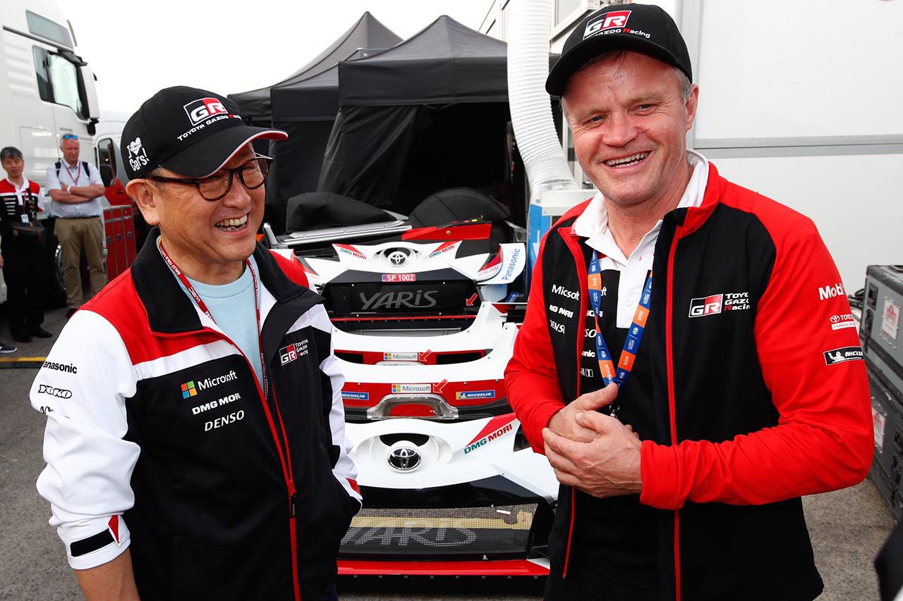 トヨタ 豊田章男社長 「WRCの全タイトル獲得は一年後に日本で叶えたい」