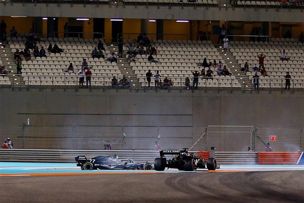 バルテリ・ボッタス 「グロージャンには僕が見えていると思った」 / メルセデス F1アブダビGP 初日