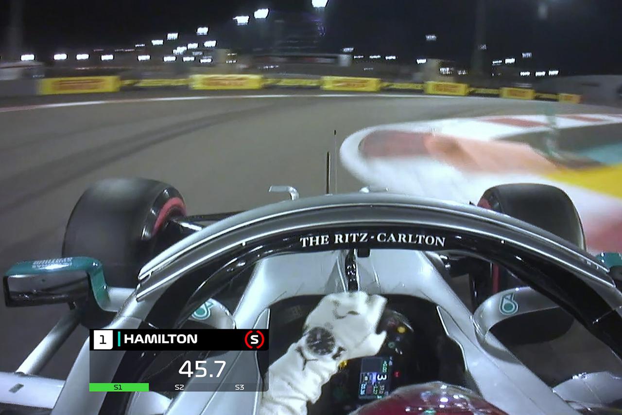 【動画】 ルイス・ハミルトンのポールラップ / F1アブダビGP