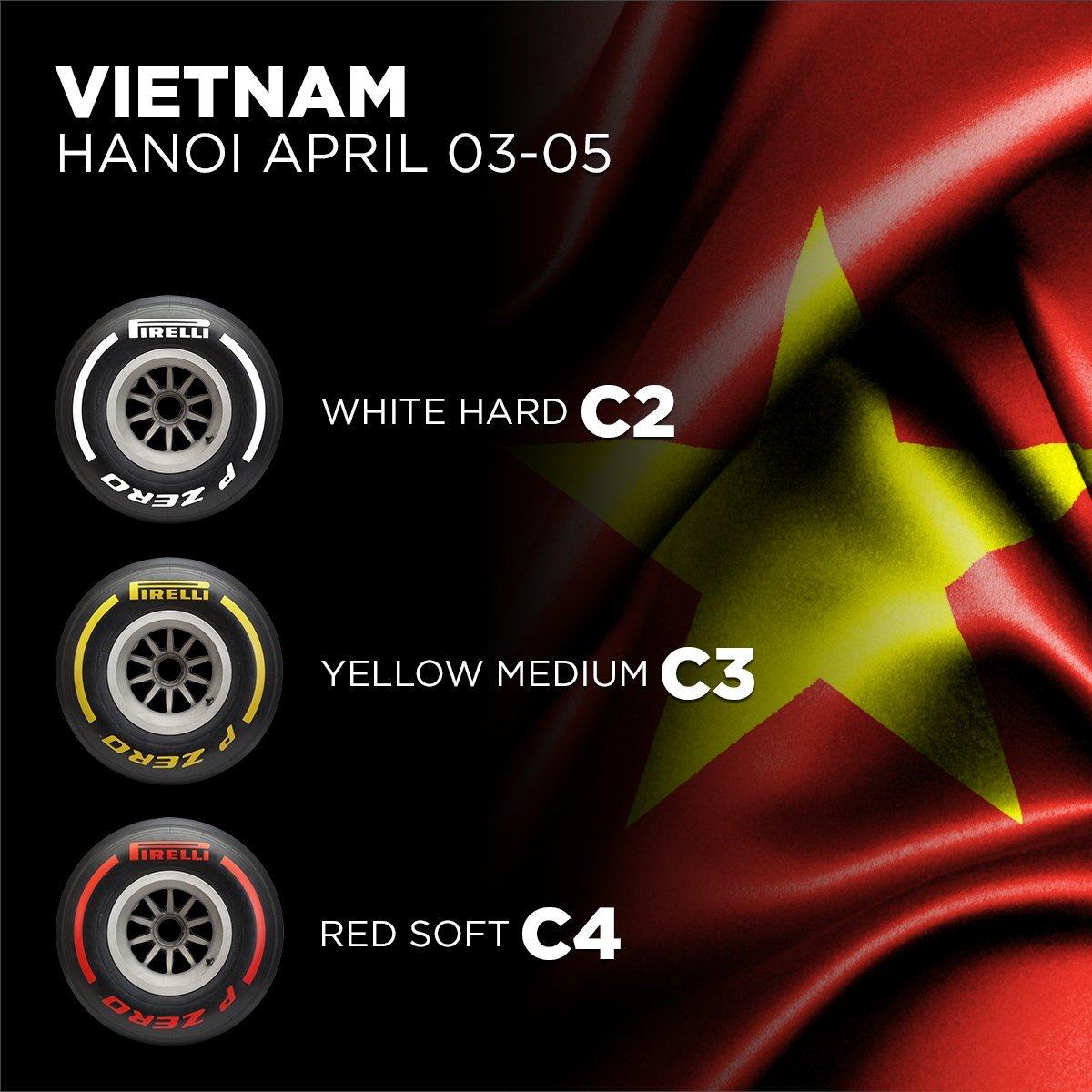 2020年のF1世界選手権 第4戦ベトナムGP タイヤ