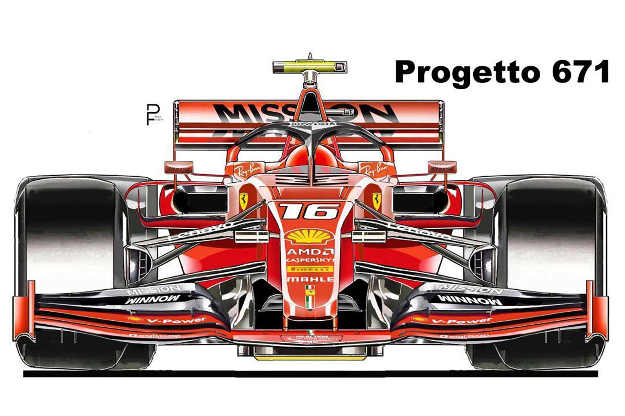 フェラーリ、2020年F1マシンのデザイン画が流出?