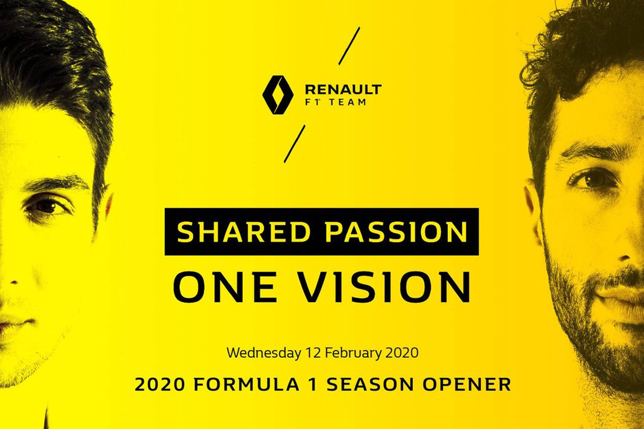 ルノーF1チーム、2020年F1マシン『R.S.20』を2月12日に発表