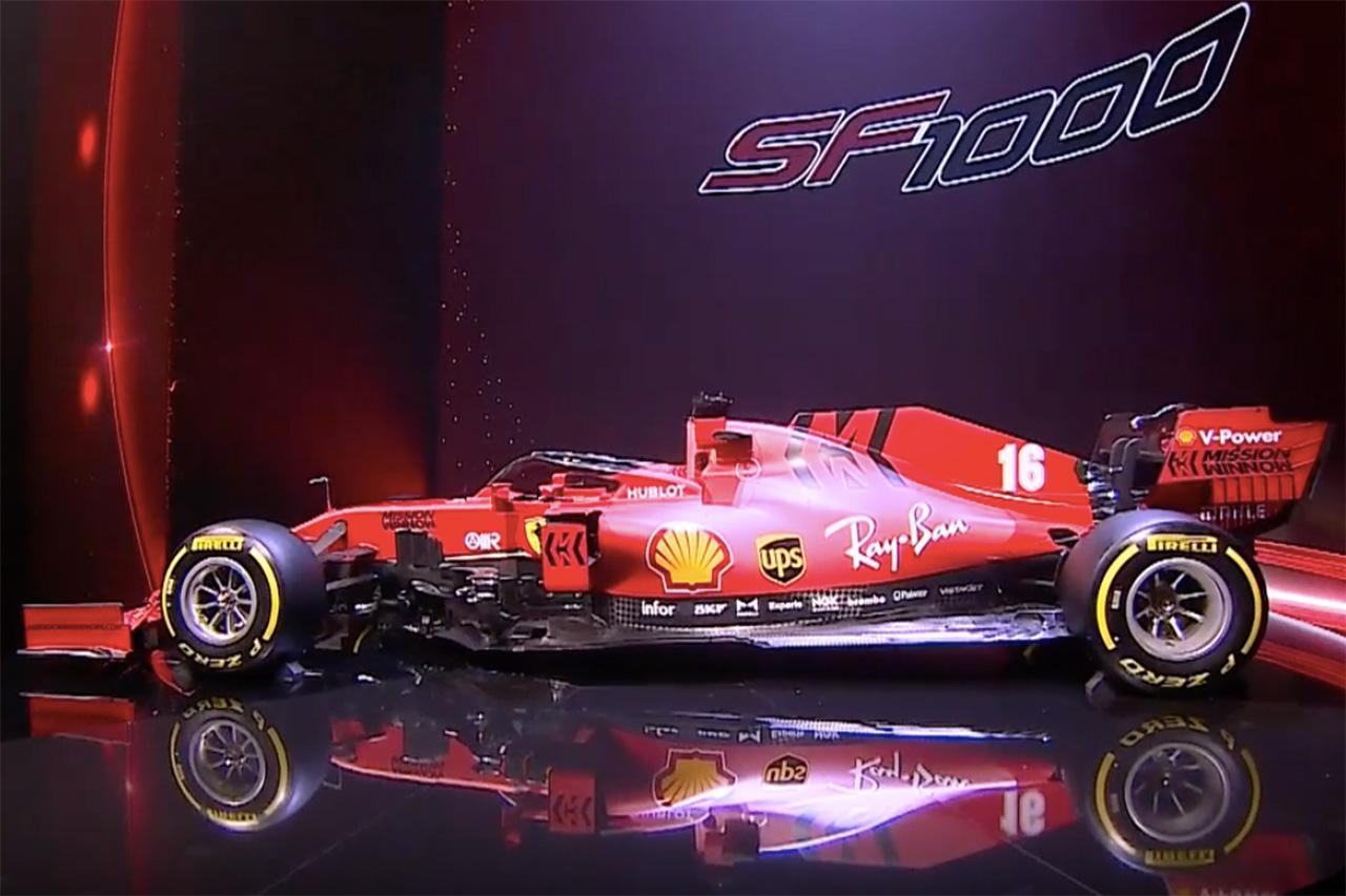フェラーリ、2020年F1マシン『SF1000』を披露