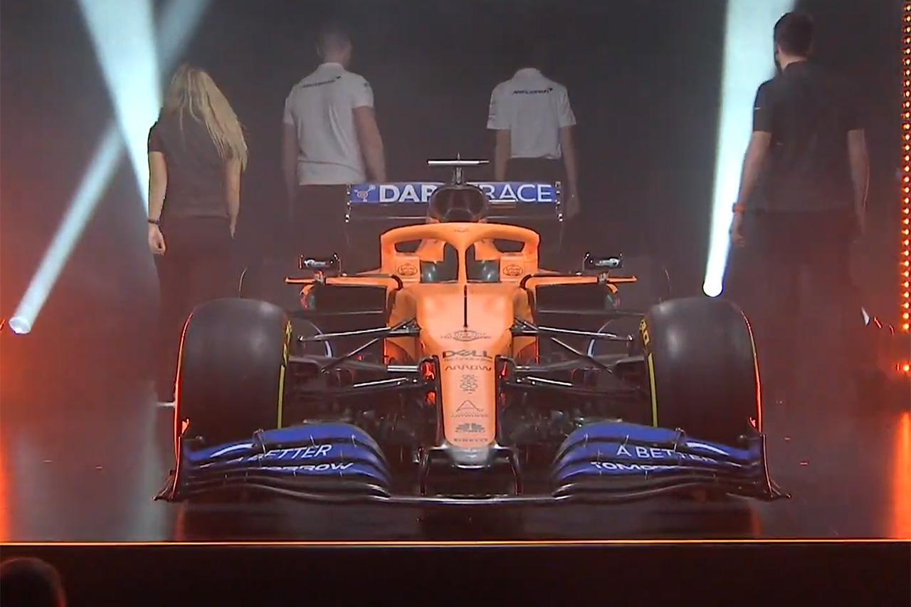 マクラーレン、2020年F1マシン『MCL35』を発表
