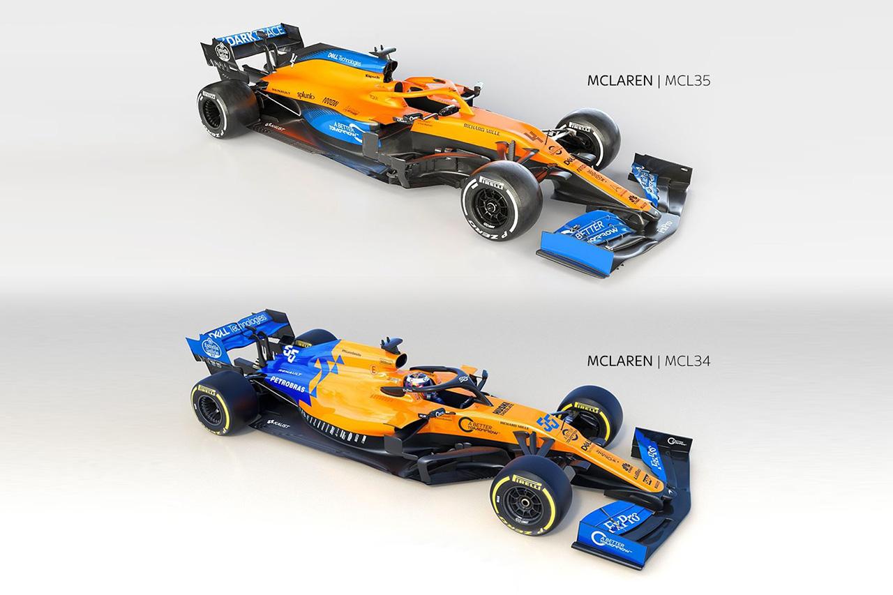 【動画】 マクラーレン 新旧F1マシン比較 『MCL35 vs MCL34』