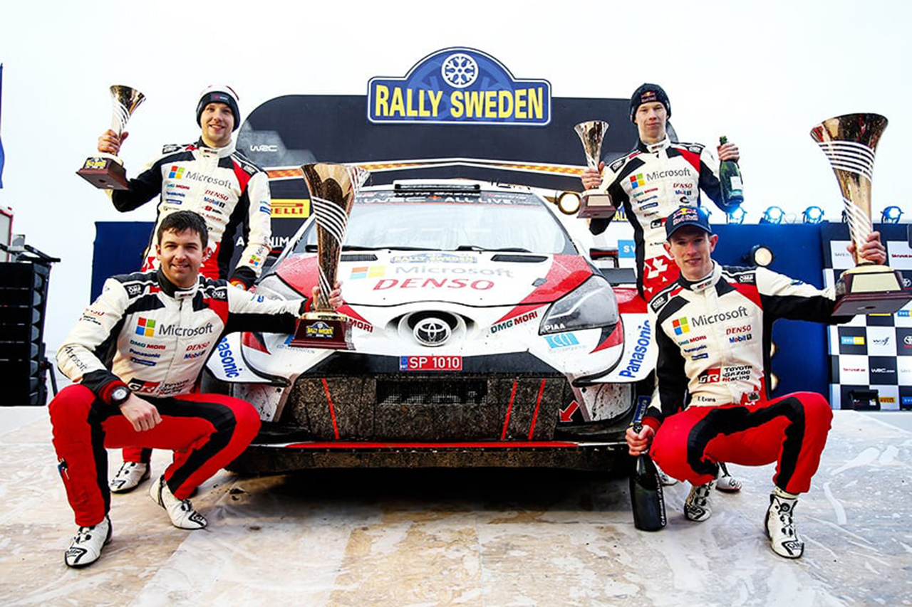 WRC 第2戦 ラリー・スウェーデン:エバンスが優勝でトヨタが今季初勝利