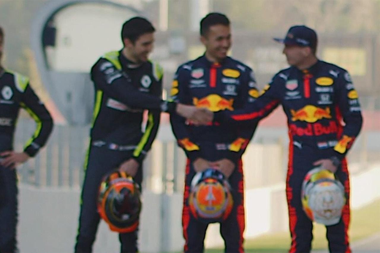 【動画】 マックス・フェルスタッペンとエステバン・オコンが握手 / F1バルセロナテスト