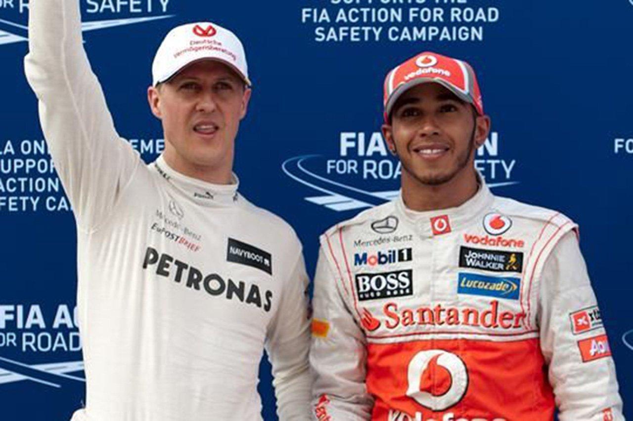 「ハミルトンはシューマッハより完成されたF1ドライバー」
