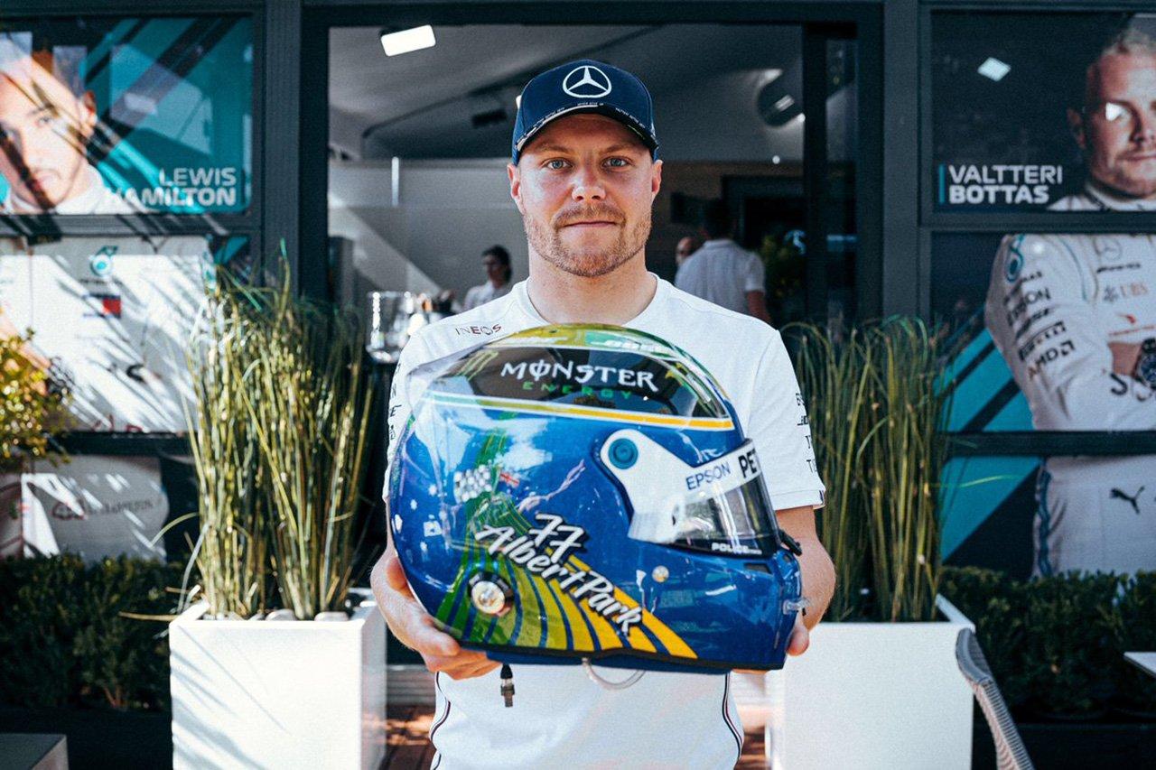 バルテリ・ボッタス、幻と化したF1オーストラリアGP仕様ヘルメット