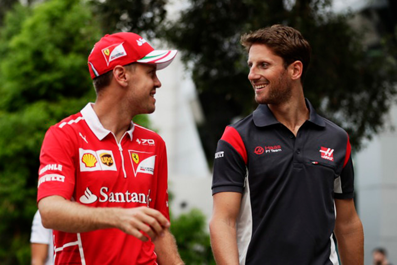 ロマン・グロージャン、深夜のベッテルとのWhatsAppでの会話を明かす / F1オーストラリアGP