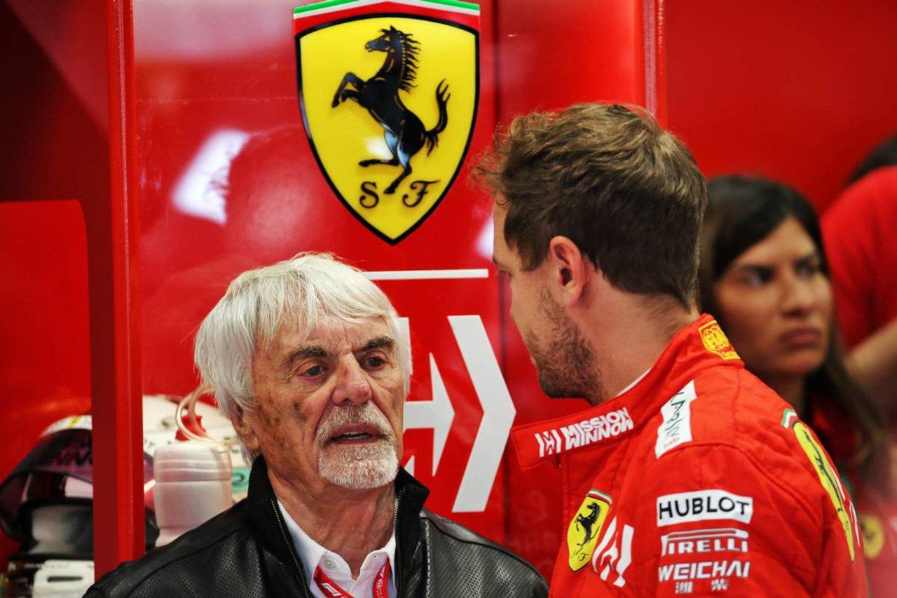 F1:「ベッテルは引退もしくマクラーレンに移籍すべき」とエクレストン